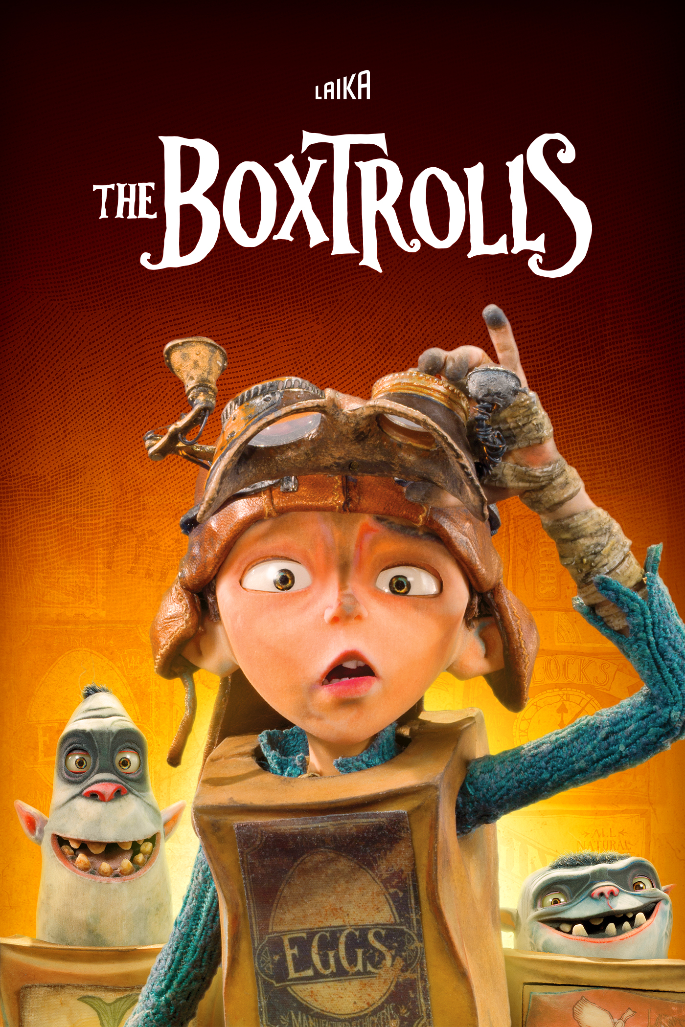"cover design for ""The Boxtrolls"""