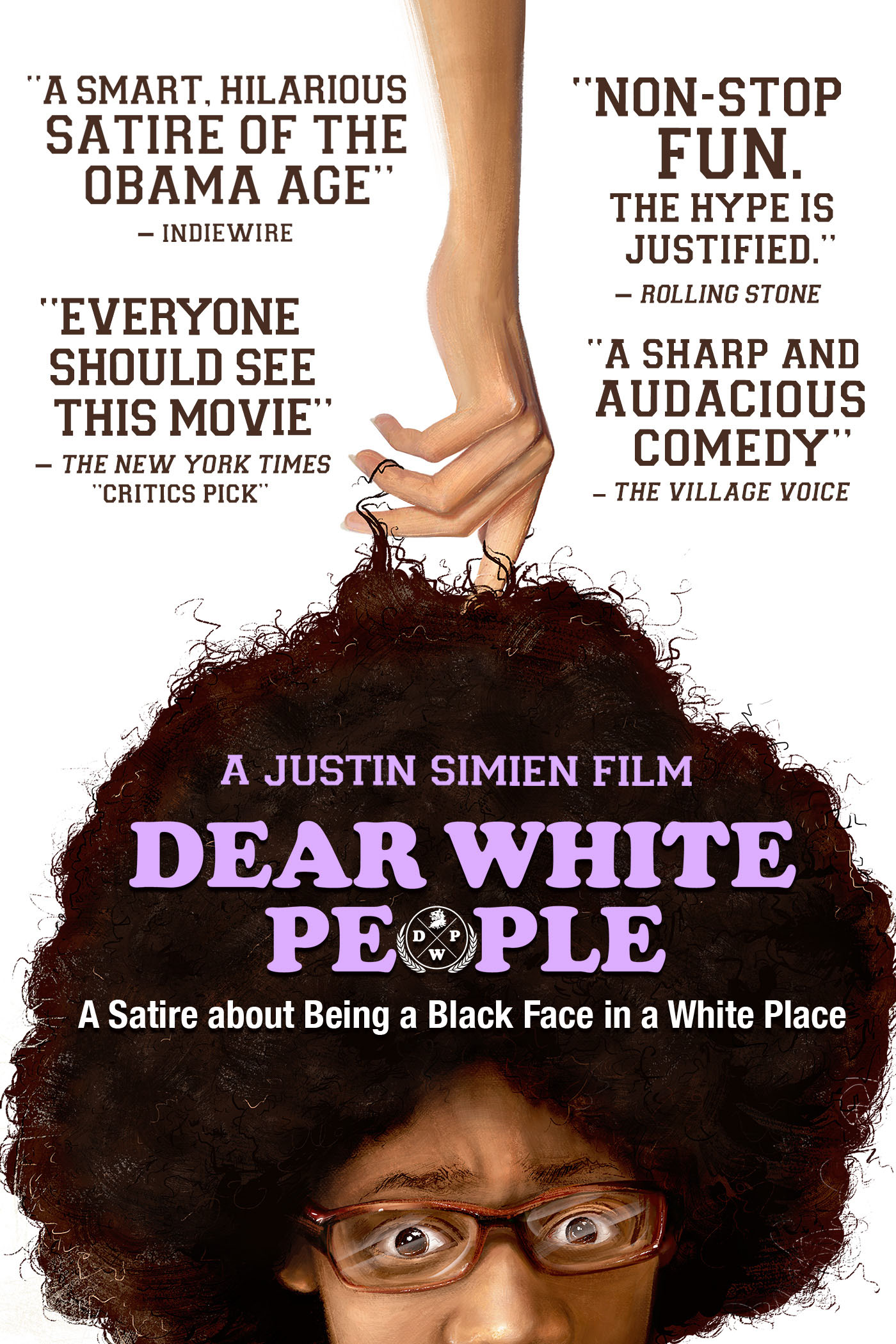 "cover design for ""Dear White People"""