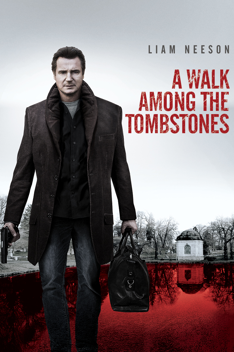 "cover design for ""A Walk Among the Tombstones"""