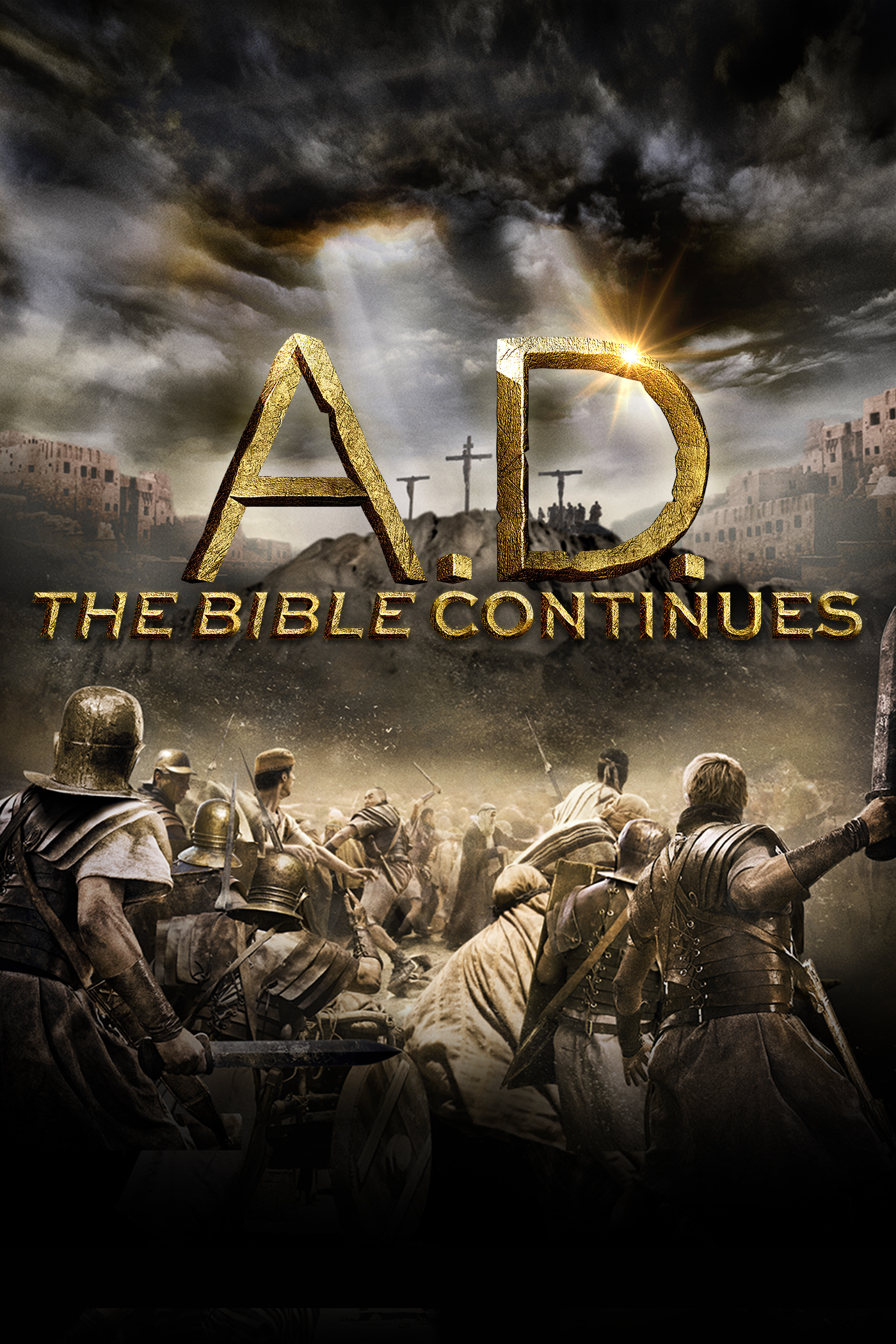 "cover design for ""A.D. The Bible Continues"""